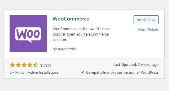 Install WooCommerce on WordPress