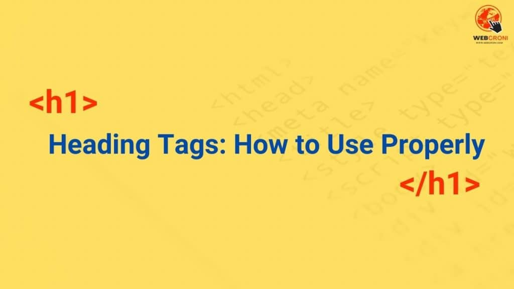 Heading Tags HTML How to Use Properly